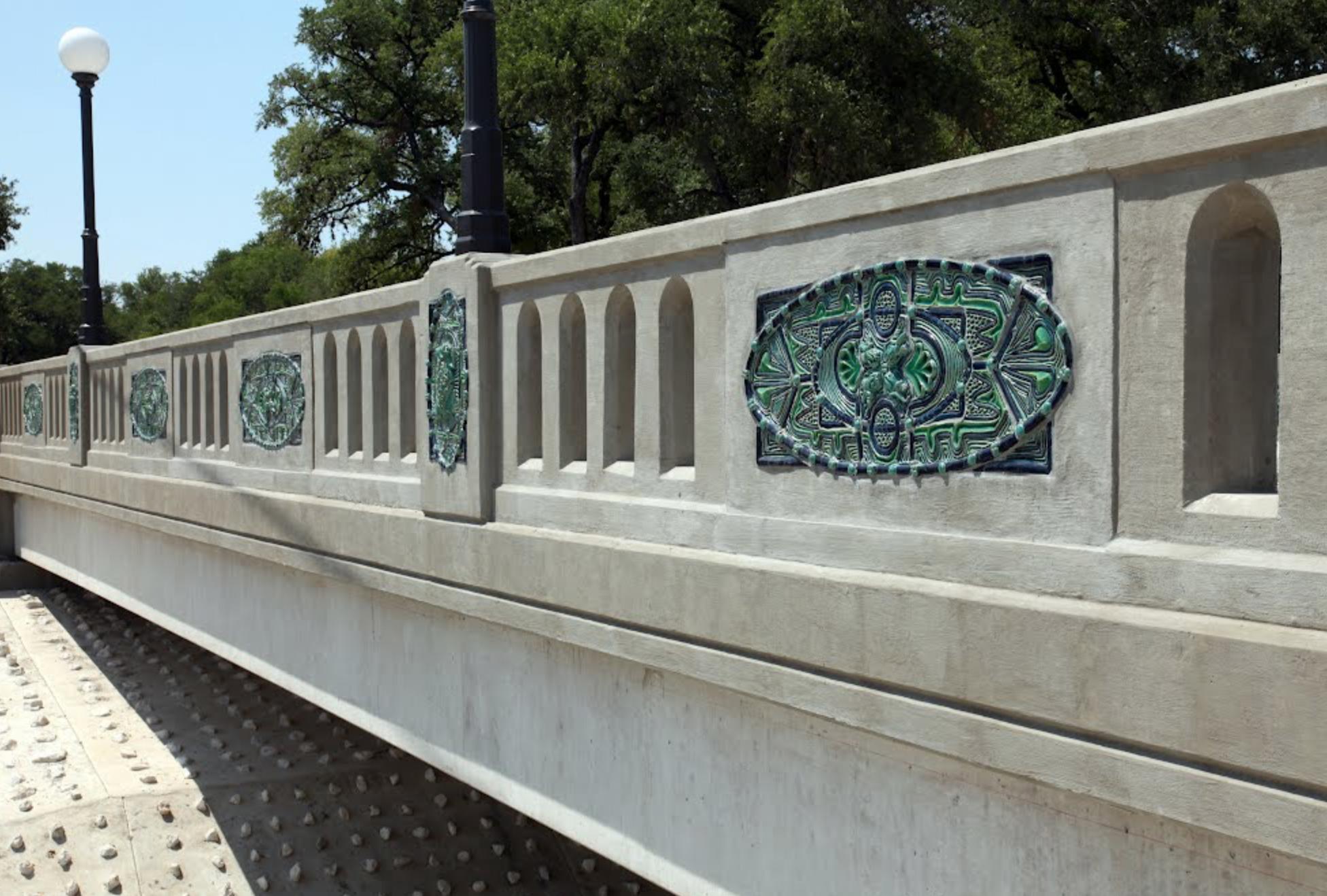 exterior ceramic tile public art by Diana Kersey in San Antonio