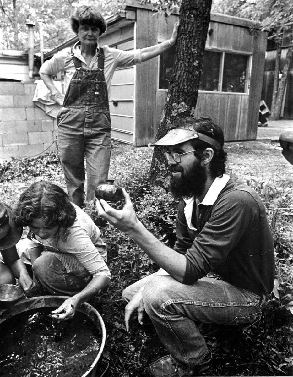 Jay Lacouture, foreground, and Harriet Brisson, background, in 1976.