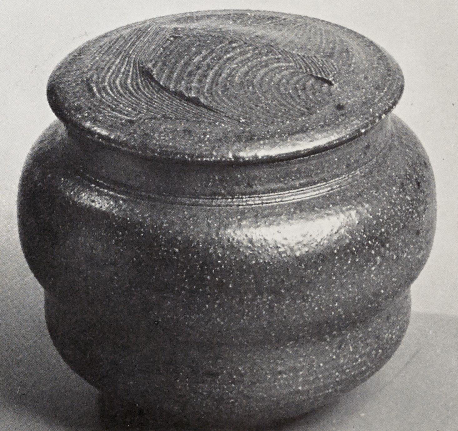 Karen Karnes, Covered Jar, Photograph by Pete Sabin, Vol. 6, No. 1, 1977.