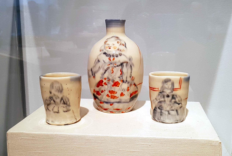 Akio Takamori. Sake Set, c. 1980. Collection of Donald Clark.
