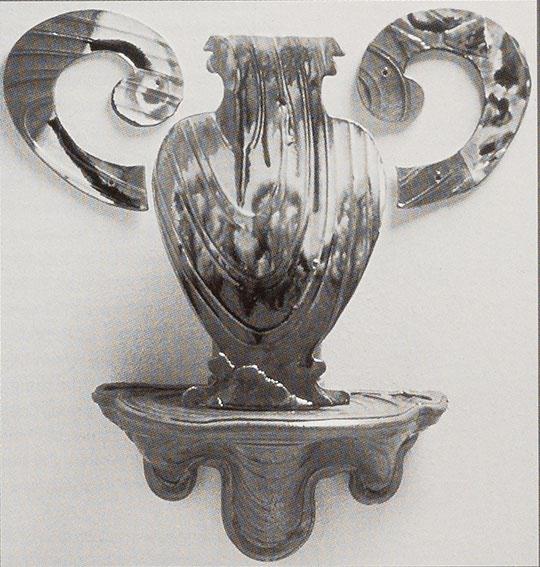 Betty Woodman. Aegina. Vase, shelf, handles, 1987.