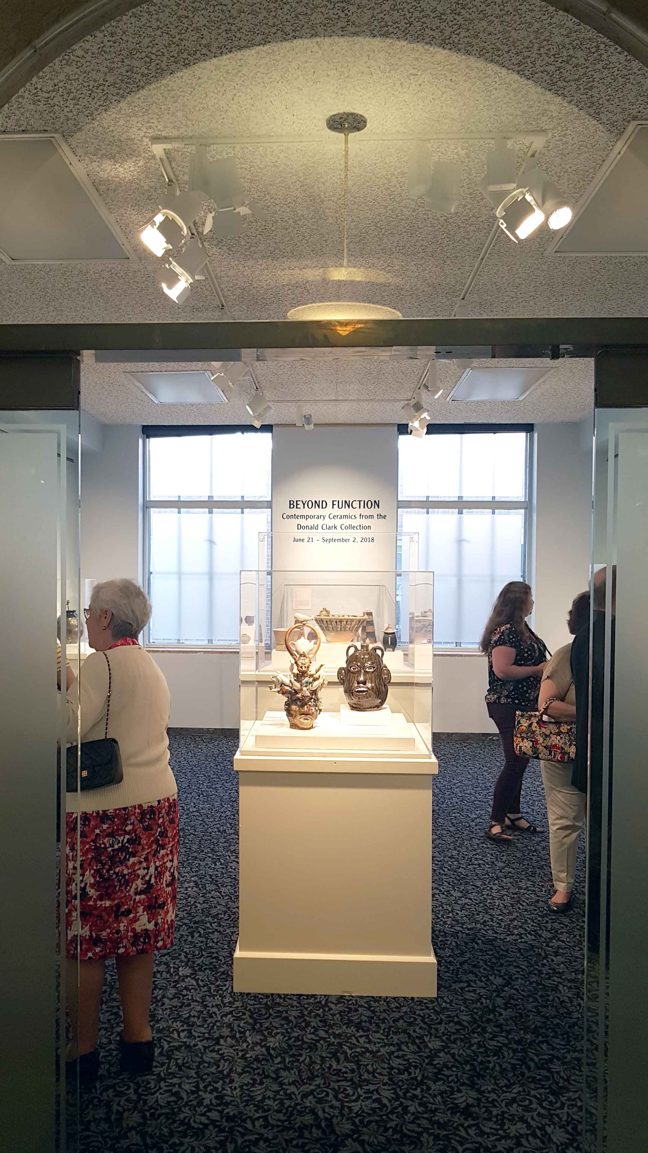 Donal Clark Collection Exhibition entrance, Springfield Museums, Massachusetts, June, 2018.