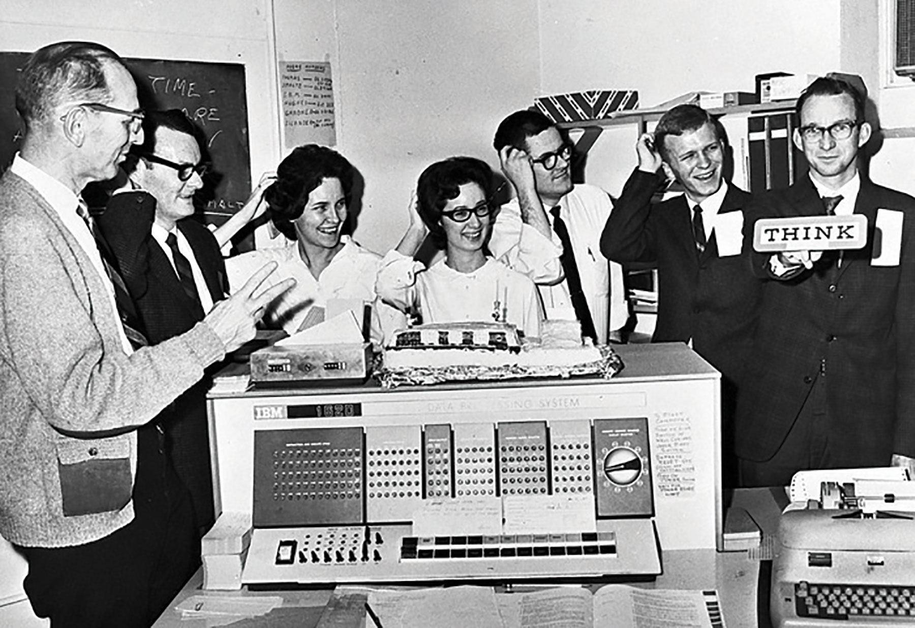 IBM 1620 at DePauw University. Photo courtesy of Richard Burkett.