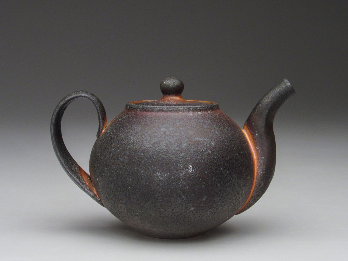 Stuart Gair. Teapot, 2018. 8x6x6 in. Soda-fired stoneware. Photo by artist.