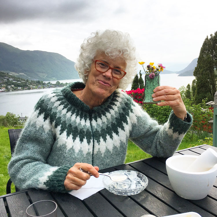 Helland-Hansen at her home, photographed by Dan Anderson, 2017.