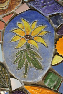 Eco-plaza mosaic detail at Perkins Art Center-Collingswood.