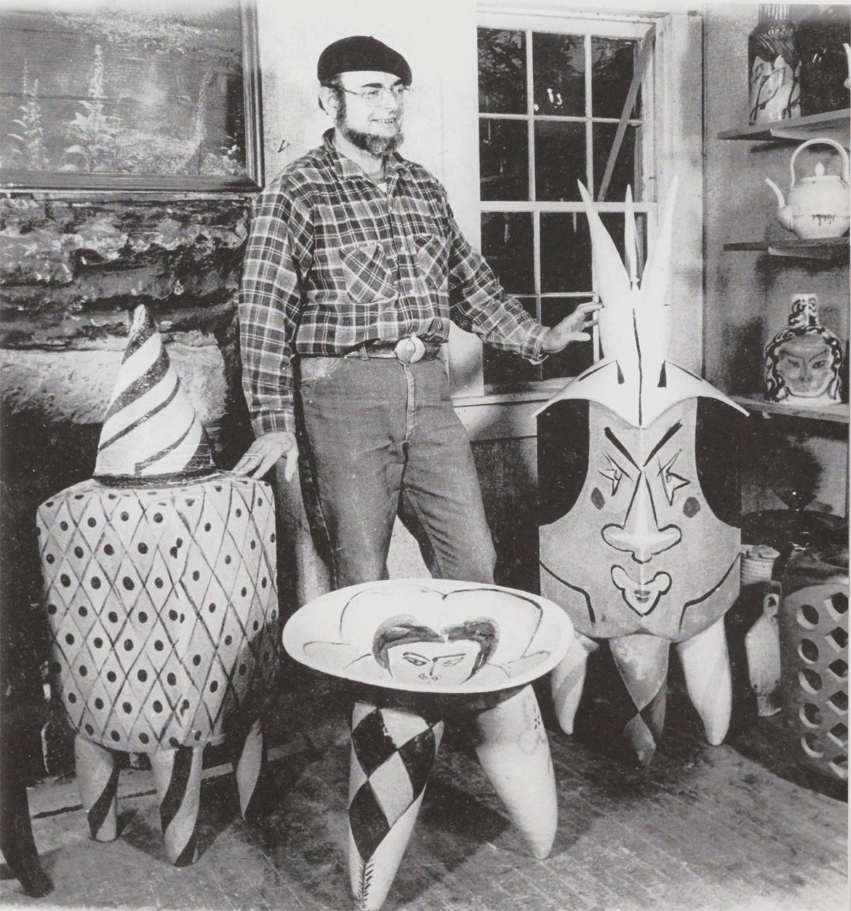 Norm in his studio, 1977-78.