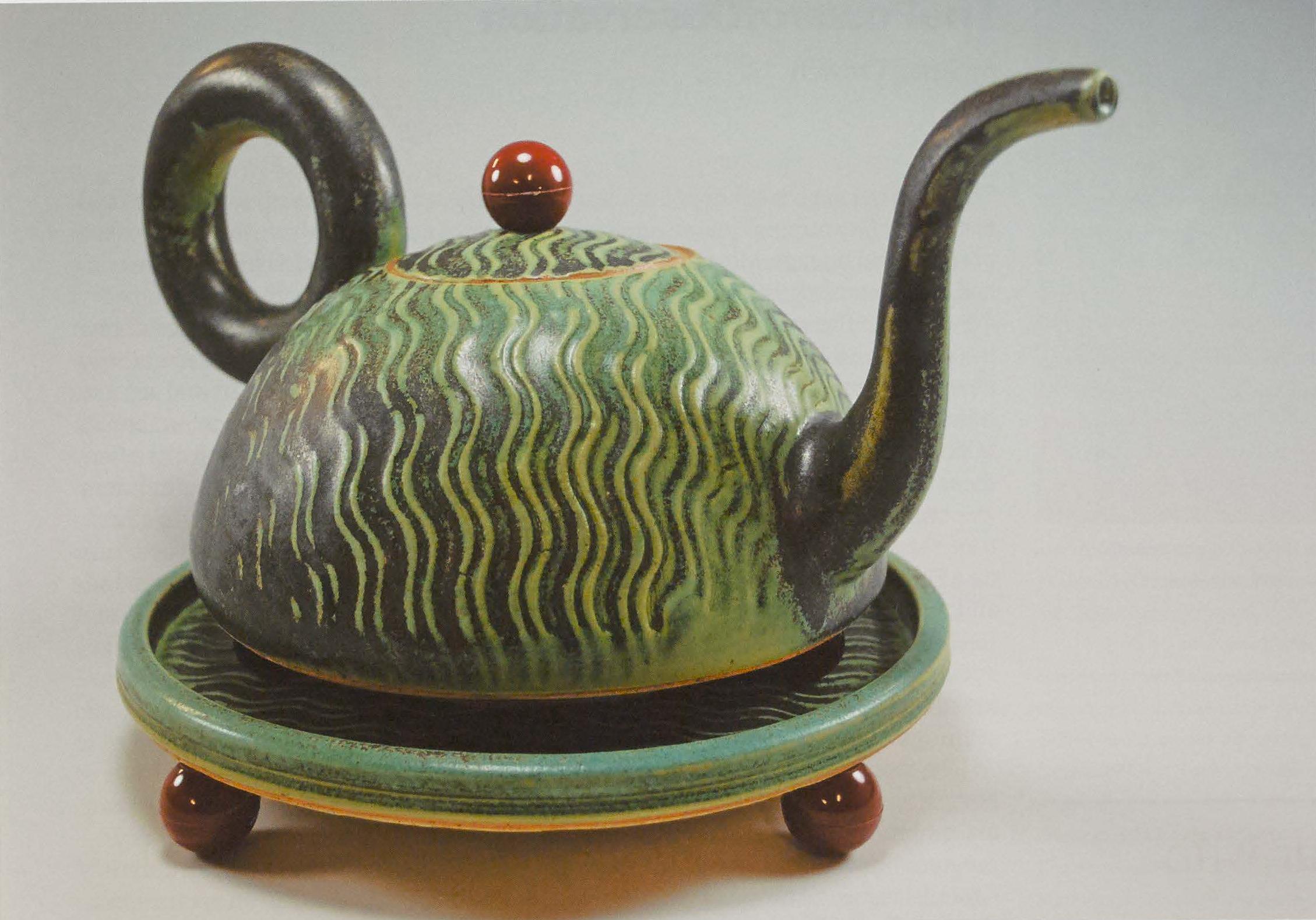 Jonathan Kaplan Teapot on Footed Plinth