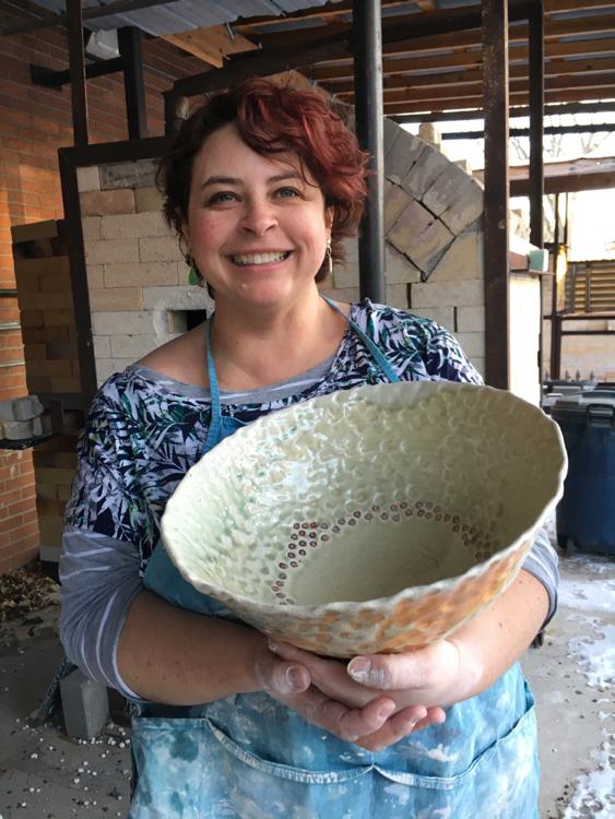 Kelli Sinner, Pots For Membership artist, March 2018.