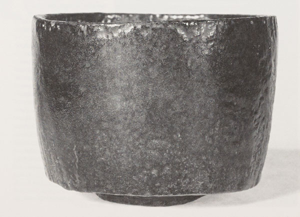 Tea bowl, attributed to Hon'ami Koetsu (1558-1637). Edo period, date uncertain. Raku clay body with black glaze. H. 3 in. Courtesy of the Freer Gallery of Art, Smithsonian Institution, 99.34.