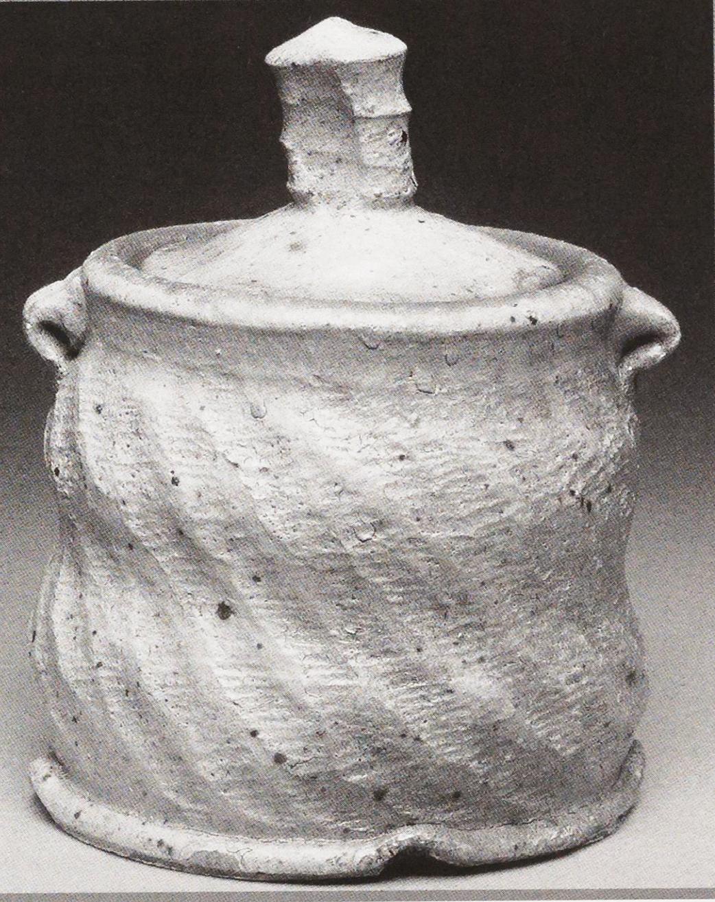 Wood salt-fire covered jar, Gregory Miller, 2002