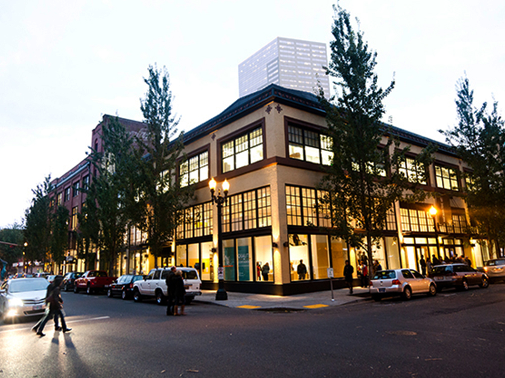 The Museum of Contemporary Craft's building on Davis Street in Portland, Oregon, via American Craft Council.