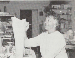 Catharine Hiersoux in her studio