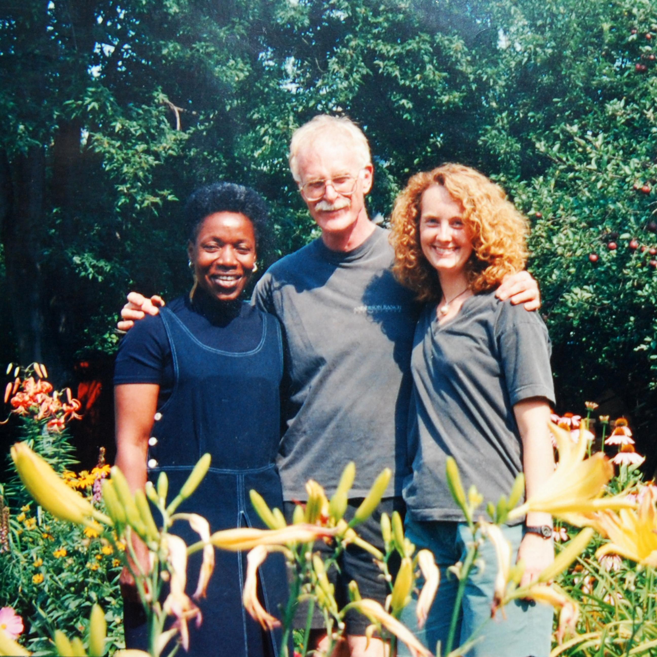 Magdalene Odundo, John Glick, and Kristen Kieffer, c. 1996.