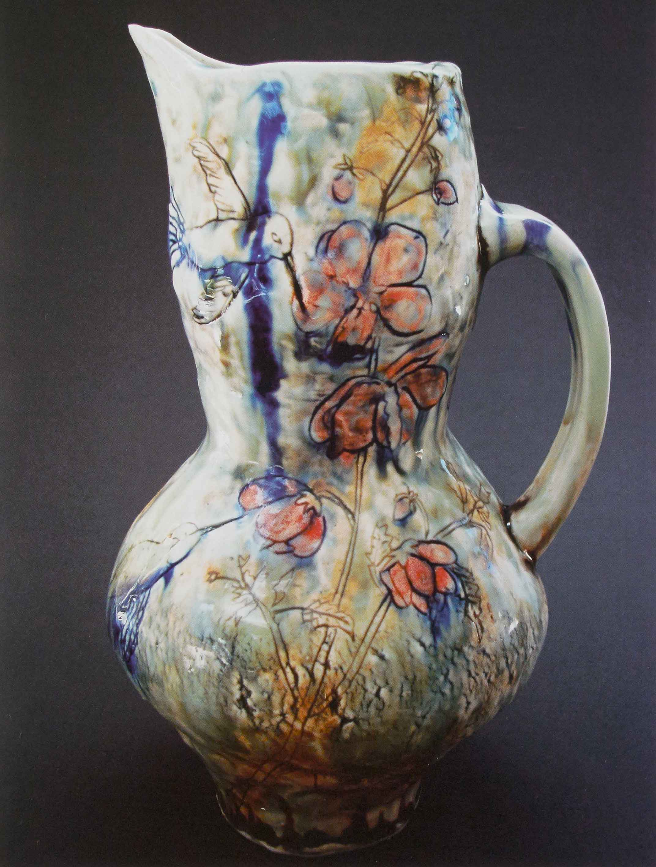 Hummingbird Pitcher, 2008. Pinched porcelain, 11 x 6 x 5 in.