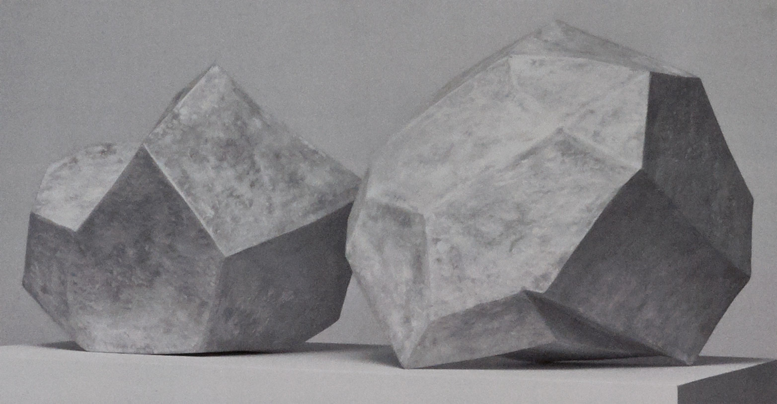 Casbon. White Shapes, 2010. Earthenware, slip, and wax, 32 x 24 x 26 in. Photograph by John Carlano.