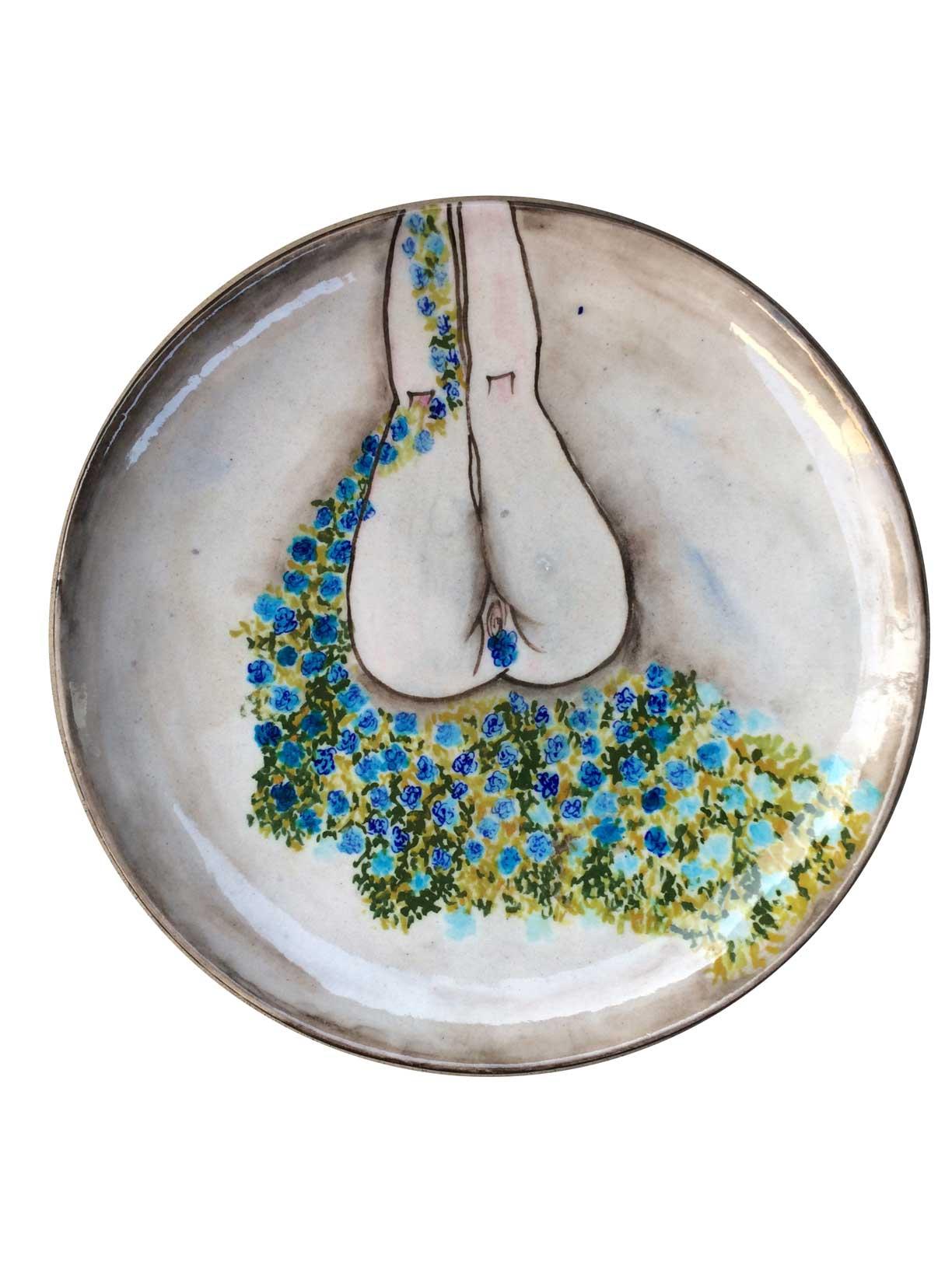 Chetna Arora. I Am Nature No. 1, 2016. Jaipur blue pottery coaster.