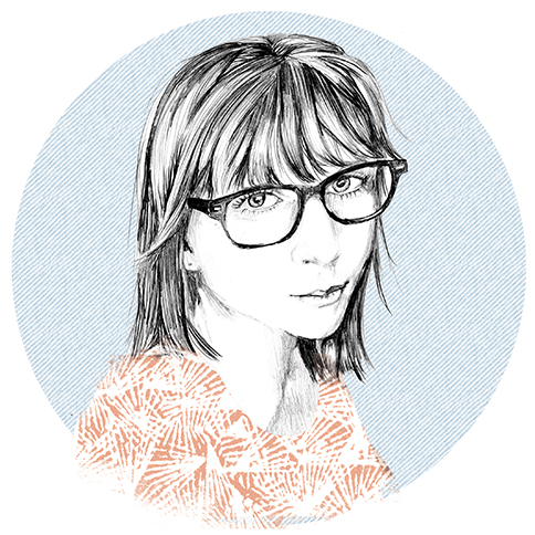 Illustration of Elenor Wilson by Zoe Pappenheimer for Studio Potter journal, 2018.