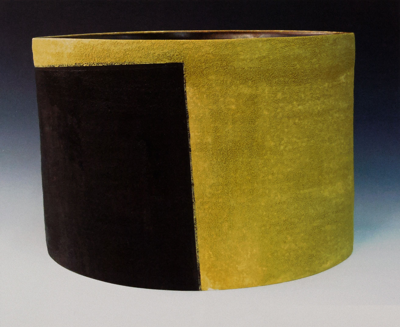 Deep Vessel Ochre and Black. 2009. Whiteware, 14 x 9 x 9 in.