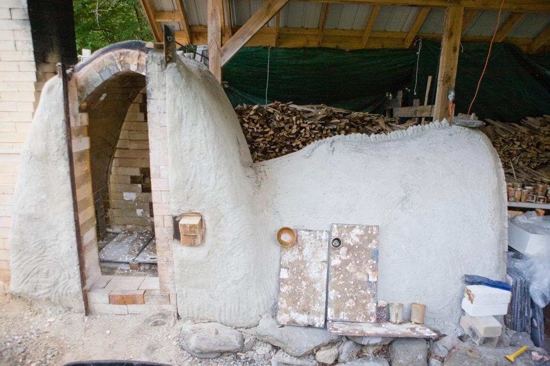 Nancy Magnusson's kiln in Massachusetts.