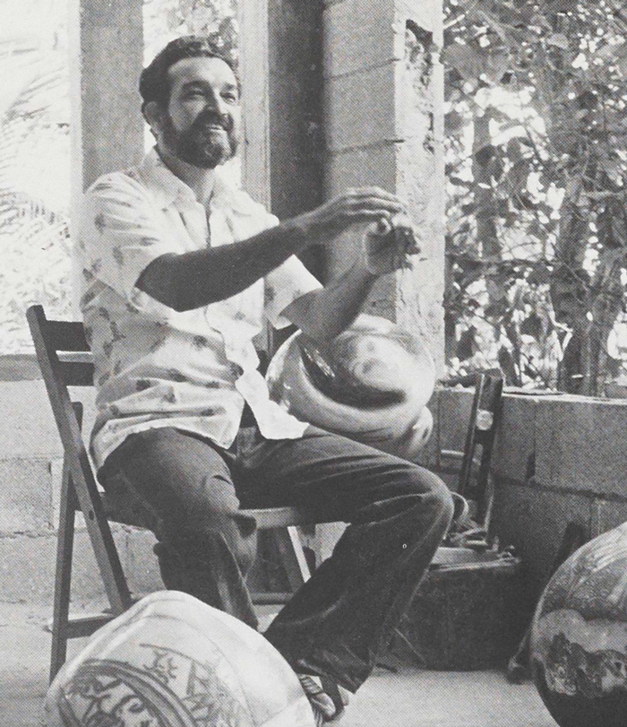 Pagan at home in Puerto Rico, 1985