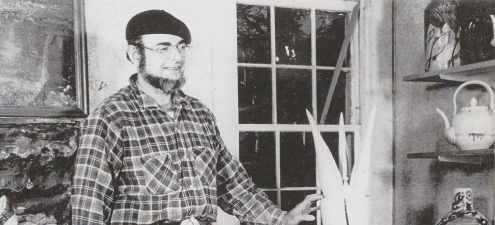 Norm in his studio, 1977-78.