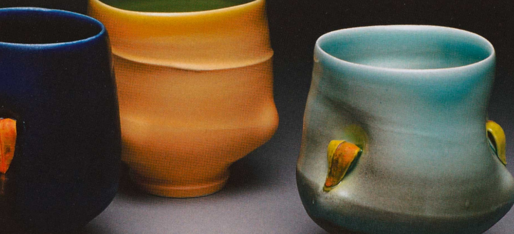 Geoffrey Wheeler, Cups, porcelain, height, 4.5 in. each.