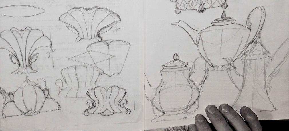 Drawings from Kristen Kieffer's sketchbook, 2007.