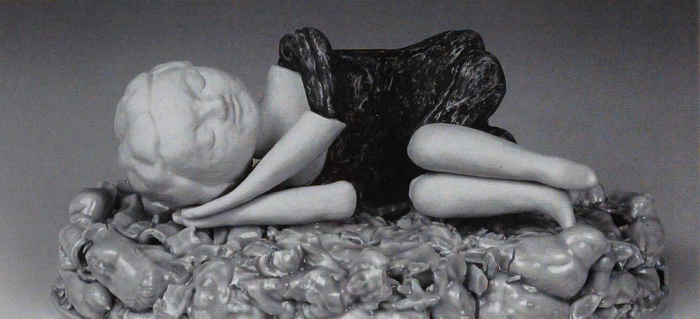 Last Breath, 2008. Porcelain. 11 x 8 x 16 in.