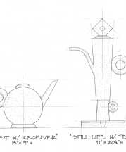 """Neo Industrial Art Object"" drawing by Jonathan Kaplan and Clark Willingham."