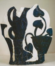 Portugal. Glazed earthenware, epoxy resin, lacquer and paint. 34.25 x 29.5 x 18 in. 2005.
