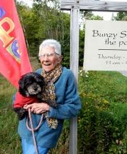 Bunzy Sherman at her studio, Deer Isle, Maine. Photograph by Barbara Toole.