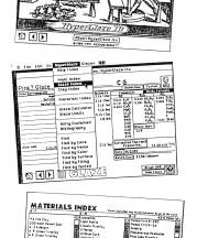 HyperGlaze software screenshots, 1992.