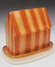 Brian Jones. Butter House, 2012. Earthenware, electric-fired, 8 x 4 x 6 in.