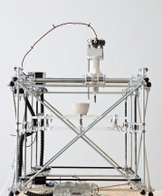 ioneered in 2009 by Unfold, the open source clay 3-D printer harnesses the potential of new technologies. Photograph by Kristof Vrancken, 2010; copyright Z33.