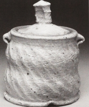 Wood salt-fire covered jar, Gregory MIller 2002