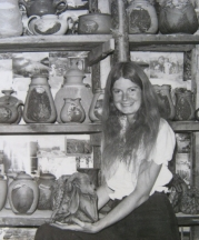 Pamela Nagley Stevenson with her early work, 1977.