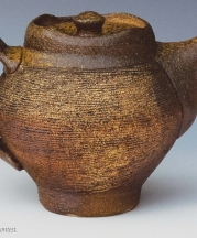 "Teapot, 2008. Wood-fired stoneware, 6""h."
