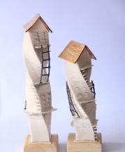 Sanver Özgüven. Natilius Houses Series, 2016. Handbuilt and 3-D printed.