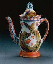 Stanley Mace Andersen, Coffee Pot, earthenware, height, 10 in.