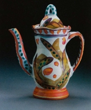Stanley Mace Andersen, Coffee Pot, earthenware, height, 10 in.