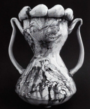 Songbirds Vase, 2008. Pinched porcelain, 11 x 9 x 9 in.