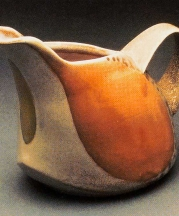 Creamer. Salt-fired porcelain, H. 3.5 in.