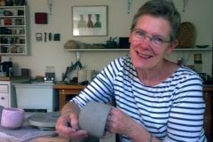 Mary Barringer in her studio, 2013.