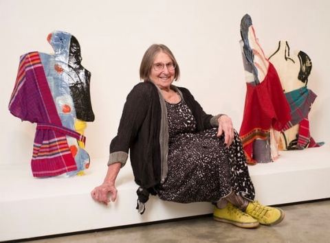 Betty Woodman at her show Theatre of the Domestic. Photograph: Graeme Robertson for the Guardian