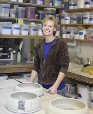 Julie K. Anderson in her studio.