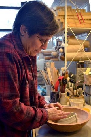 Marion Angelica in her studio.