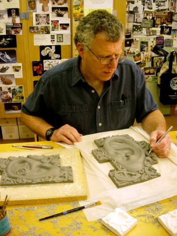 Richard Notkin in his studio.