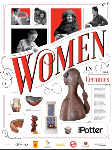 Women in Ceramics Poster, Front