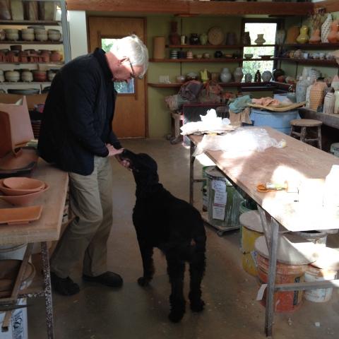 Mark Pharis in his Minnesota studio.